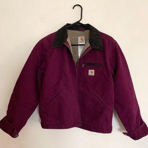 Purple Carhartt Fleece Lined Jacket Coat XS